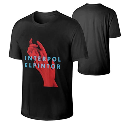 StellaR. Walker Mens Interpol El Pintor Music Band Lightweight Hip Pop Round Neck Cotton T Shirts Gift