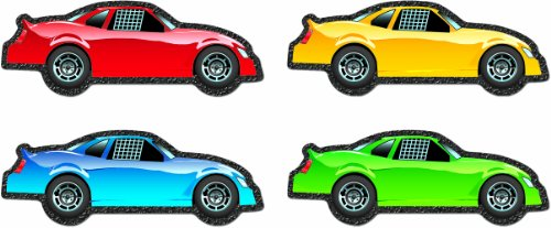 Racing Cut Outs (Carson Dellosa Race Cars Cut-Outs (120117))
