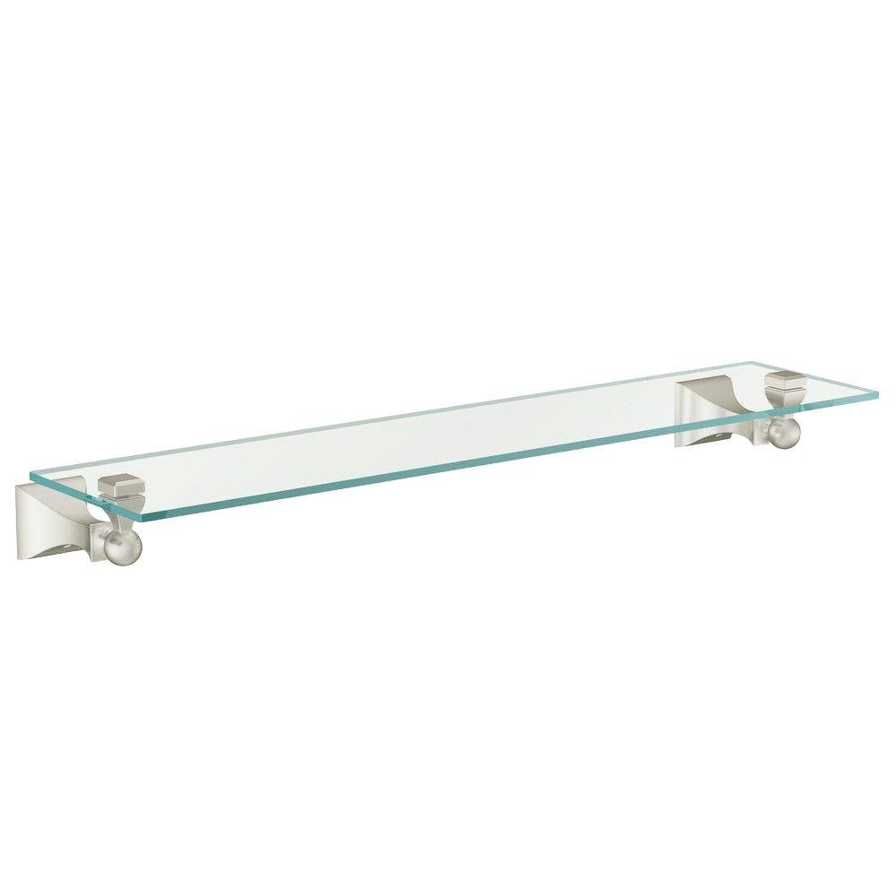 Moen DN8390BN Retreat Glass Shelf, Brushed Nickel