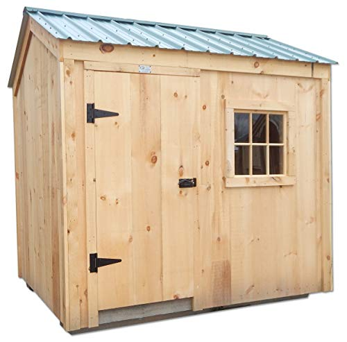 Post and Beam Rugged 6x8 Nantucket Wooden Backyard Storage Shed Kit with Floor System ()