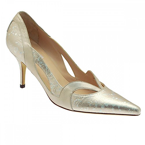 Renata Women's Pointed Toe High Heel Court Shoe Silver 8TWmL7l0