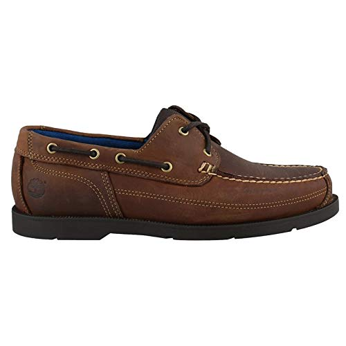 Timberland Mens Piper Cove Full Grain Leagther Boat Shoe Medium Brown/Trail Size 10 (Zapatos Timberland Man)