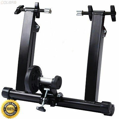 COLIBROX-- New Portable Indoor Exercise Magnetic Resistance Bicycle Trainer Bike Stand Exercise Bicycle Trainer Magnetic 5 level Resistance Stand by COLIBROX