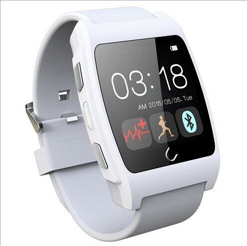 Original Uwatch Ux Smart Watch with Heart Rate Monitor Smart Watch Phone Bluetooth Watch with Heart Rate Sensor Perfectly Compatible with IOS & Android for IOS Android Apple Iphone 4/4s/5/5c/5s Samsung S2/s3/s4/note 2/note 3 HTC Sony Blackberry (White)