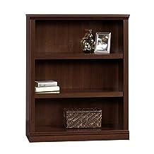 Sauder 3-Shelf Bookcase, Select Cherry Finish