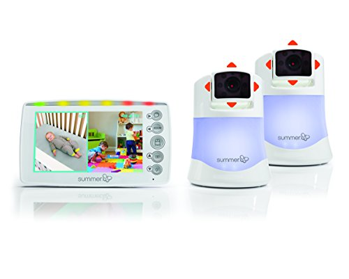 Summer Infant 2 Camera Video Baby Monitor Side-by-Side Display on 5 inch...