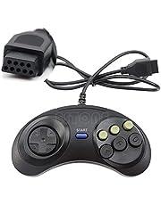 6 Button Wired Controller Pad Gamepad for Mega Drive Megadrive Sega MD Genesis