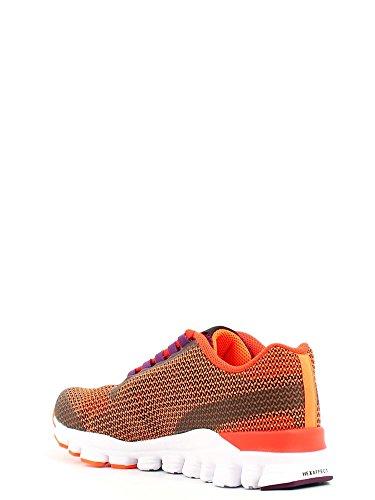 Reebok Hexaffect Storm Zapatillas de deporte, Mujer Naranja / Rojo / Morado / Blanco (Elec Peach/Atom Red/Celstl Orchd/Wht)