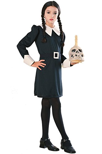Book Character Costumes For 10 Year Olds (Addams Family Child's Wednesday Addams Costume, Large)