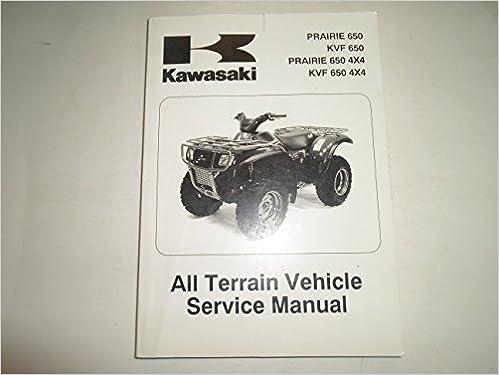 2002 2003 Kawasaki Prairie 650 Kvf 4x4 Atv Service Manual Damaged Kawasaki Amazon Com Books