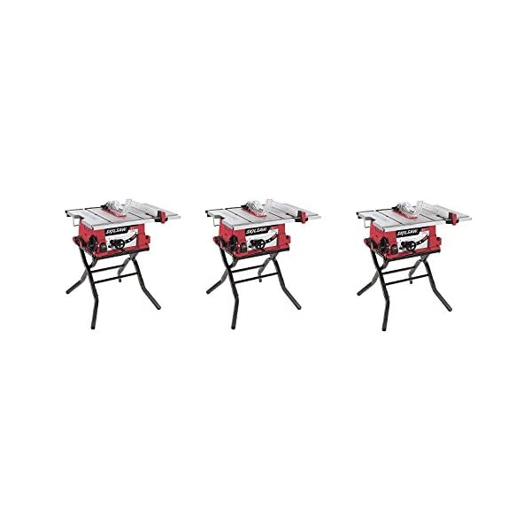 SKIL 3410-02 10-Inch Table Saw with Folding Stand (3-Pack