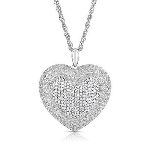 (NATALIA DRAKE Diamond Heart Pendant)