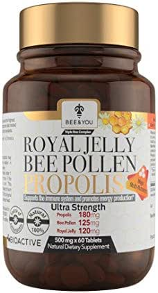 Royal Jelly+Bee Pollen+Propolis Ultra Strength Immune&Energy Booster