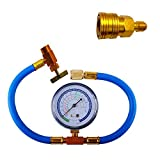 Car Auto Air Conditioning Refrigerant Recharge Measuring Hose Gauge Kit Refrigerant Addition Tube for Home and Car 1/4SAE R134A R22