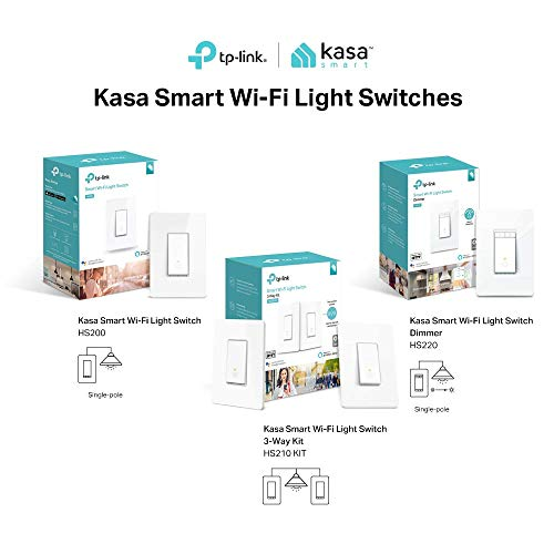 Kasa Smart Wi-Fi Light Switch, 3-Way Kit by TP-Link - Control Lighting from Anywhere, Easy In-Wall Installation (3-Way Only), No Hub Required, Works with Alexa and Google Assistant (HS210 KIT) by TP-LINK (Image #5)