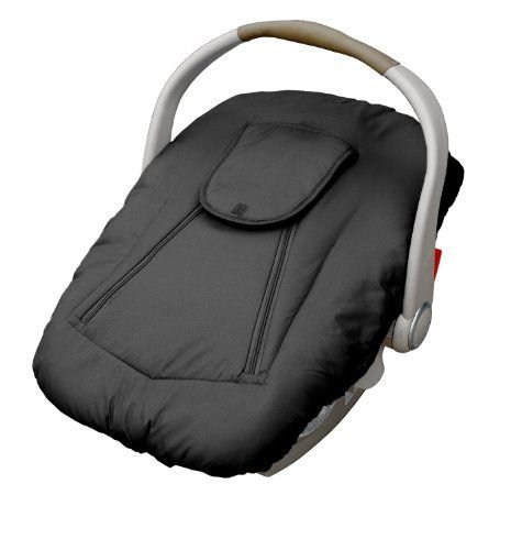 (Jolly Jumper Arctic Sneak-A-Peek Infant CarSeat Cover With Attached Blanket, Weatherproof - Black)