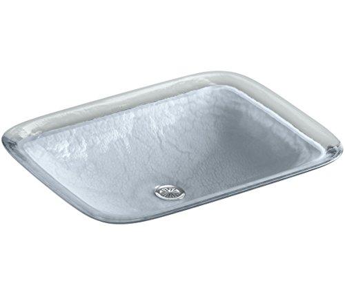 KOHLER K-2773-G1-B11 Inia Wading Pool Glass Drop-In Rectangular Bathroom Sink, Opaque Dusk - Kohler Wading Pool