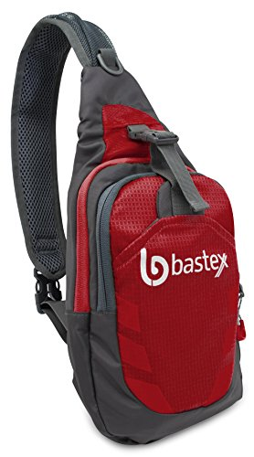Price comparison product image Bastex On the GO Red Shoulder Bag Gym Sports Backpack Outdoor Chest Pack