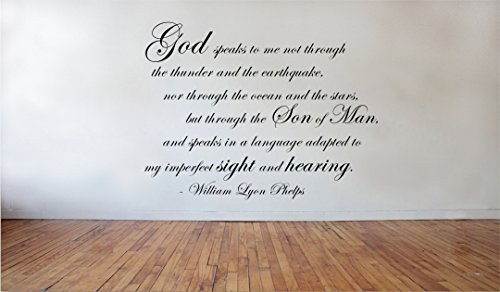 Blinggo God Speaks To Me William Lyon Phelps Removable Vinyl Wall Decal Home Dicor