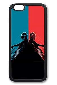 6 Plus Case, iPhone 6 Plus Case Daft Punk Red And Blue Creativity TPU Silicone Gel Back Cover Skin Soft Bumper Case Cover for Apple iPhone 6 Plus