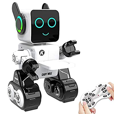 Remote Control Robot,Robots for Kids Intelligent Programmable Robot Dancing,Singing,Talking,Voice Recording,Built-in Coin Bank,Gesture Sensing Rechargeable RC Robot for Boys,Girls,Age 24 Month and Up
