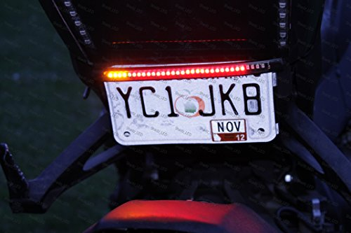 Motorcycle Licence Plate Run / Brake / Turn Integrator Flex Strip Light ()