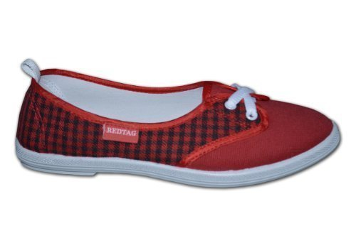stringate 4 rosso Tag UK Rosso donna Red Scarpe vaqTR