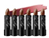 Magic Kiss Lipstick Set Aloe Vera Color Changing 6 Pack MADE IN USA (Chocolate)