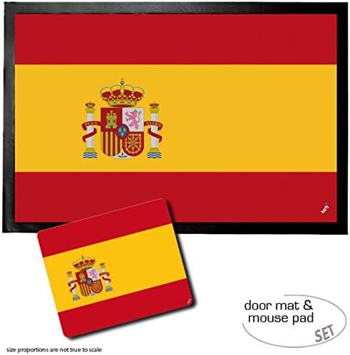 1art1 España, Banderas del Mundo Felpudo Alfombra (60x40 cm) + ...