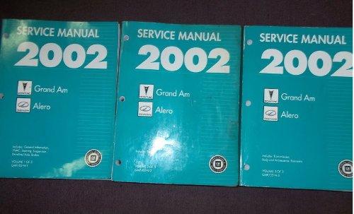 Oldsmobile Alero Set - 2002 Pontiac Grand AM Oldsmobile Alero Service Manual (3 volume set.)