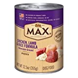 Nutro MAX Puppy Chicken, Lamb and Rice Canned Dog Food by Nutro