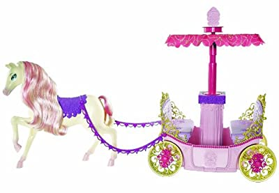 Barbie Princess Charm School Horse And Carriage from Mattel