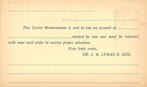 Logansport Indiana Dr.Lynas Talcum Powder Ad Government Postal Postcard J65187