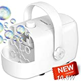 Bubble Machine Blower, Automatic Bubble Machine for Toddler Kid Dog, 2 Bubbles Blowing Speed Levels,...