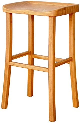 Greenington Tulip Bar Stool with Contour Seat in Caramelized Finish – Set of 2