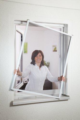 Insektenschutz Fliegengitter Fenster 1A MEISTERQUALITÄT weiß bis 130 x 150 cm 5er Set Montagevideo von Hecht International
