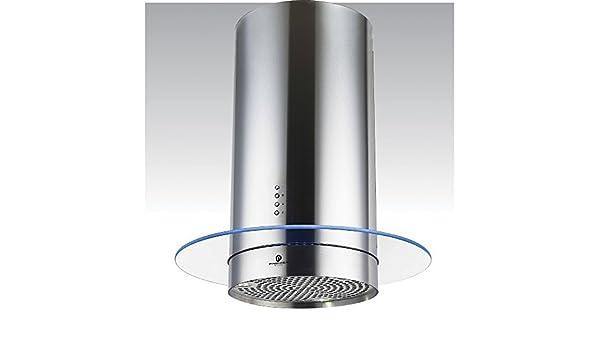 70 cm – Campana Isla Con Estado de Ánimo de iluminación LED redonda at91.7sm: Amazon.es: Grandes electrodomésticos