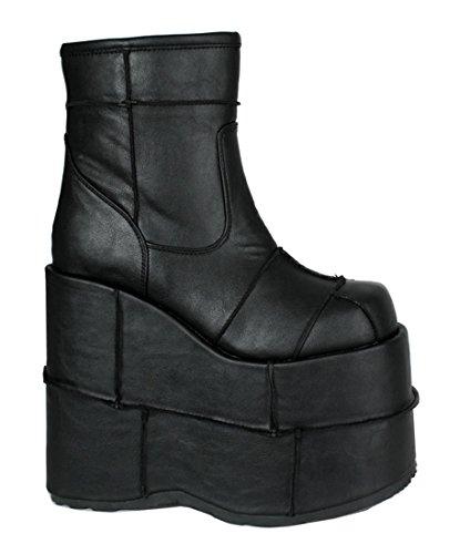 90s Horror Costumes (Horror Gothic Frankenstein Platform Devil Witch Cyber Halloween Costume Mens Boots)