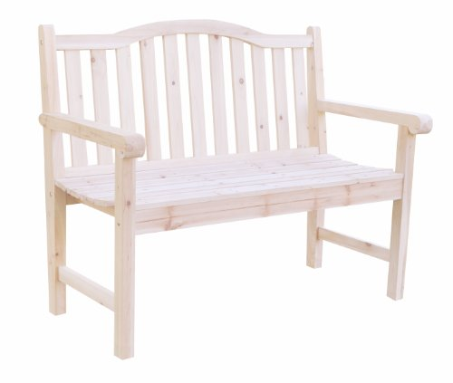 Shine Company Belfort Garden Bench, Natural by Shine Company Inc.
