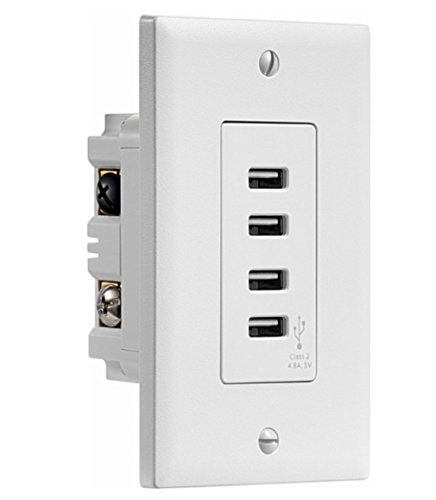 In-wall 4 USB Charging Station Wholesale Wall Plates
