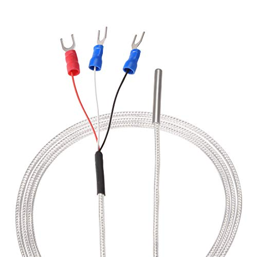 uxcell PT100 RTD Temperature Sensor Probe 3 Wires Cable Thermocouple Stainless Steel 100cm(3.3ft) (Temperature Rang: -20~420°C)