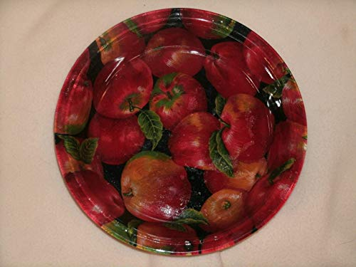 The Unique Gift Boutique-Chock Full of Apples Decorative Decoupage Fabric-backed Pie Plate