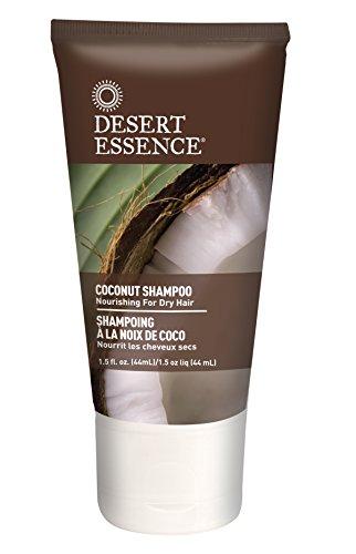Desert Essence Coconut Shampoo and Conditioner Travel Size Bundle - 1.5 fl oz ea (Shampoo Conditioner Size Travel)