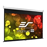 Elite Screens Manual SRM Pro, 84-INCH, 16:9, Manual Slow Retract, 8K / 4K Ultra HD 3D Ready Projector Screen, M84HSR-Pro, 2-YEAR WARRANTY
