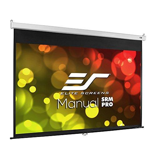 Elite Screens Manual SRM Pro, 120-INCH 16:9, Manual Slow Retract Projector Screen, 8K / 4K Ultra HD 3D Ready, 2-YEAR WARRANTY, M120HSR-PRO