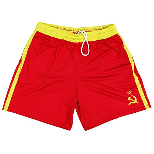 Drago Athletic Shorts, Red, Youth -