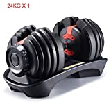 Amon 1X24KG Weight for Weightlifting and Body Building for Exercise Fitting Gym Body Workout Dumbbell with Adjustable Weights for Gym Body Building