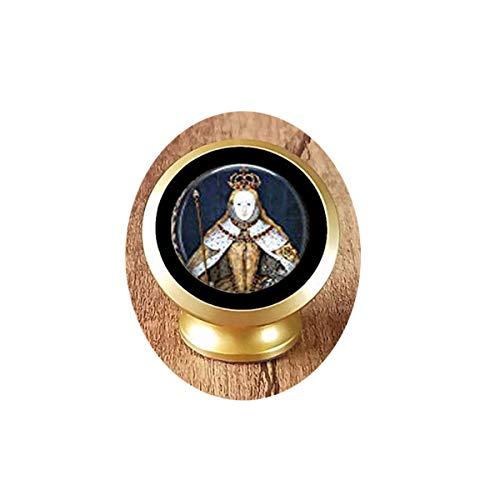 hars Queen Elizabeth I in her Coronation Robes - British Monarch - Queen Elizabeth Pendant - Big Ben - Great Britain Memento Magnetic Car Phone Mount -