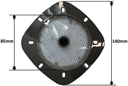Paradies Pool LED Magnetscheinwerfer anthrazit, Garten- und Poolbeleuchtung, ideal für Stahlwandbecken, Akkuscheinwerfer mit 18 LEDs, Menge: 1 Stück