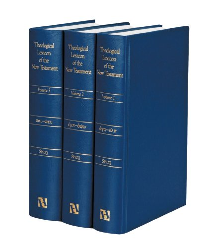 Theological Lexicon of the New Testament (3 Volume Set)